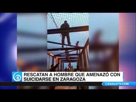 SSP de la CDMX rescató a un hombre que amenazaba con aventarse de un puente en Zaragoza
