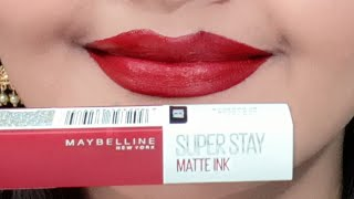 maybelline superstay matte ink city edition swatches review