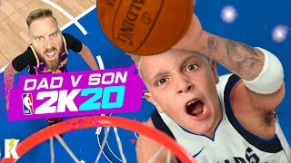 DAD vs SON in NBA 2k20! (Mavs vs Lakers) K-CITY GAMING