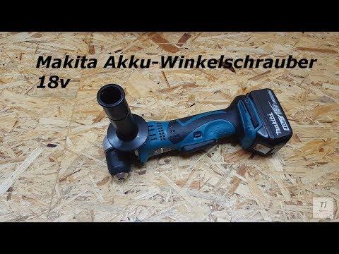 ►MAKITA Akku- Winkelbohrmaschine 18v