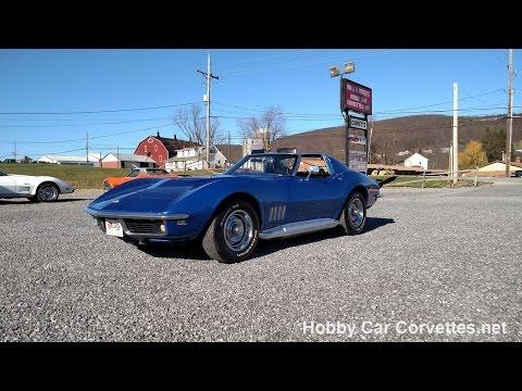 1968 Bright Blue Corvette T Top Video