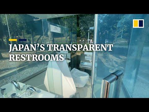 De transparante toiletten van Japan hopen stereotypen van vuile openbare toiletten te verdrijven
