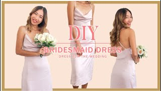 DIY Bridesmaid Dress/Cowl Neck Dress Open Back - Step By Step Tutorial