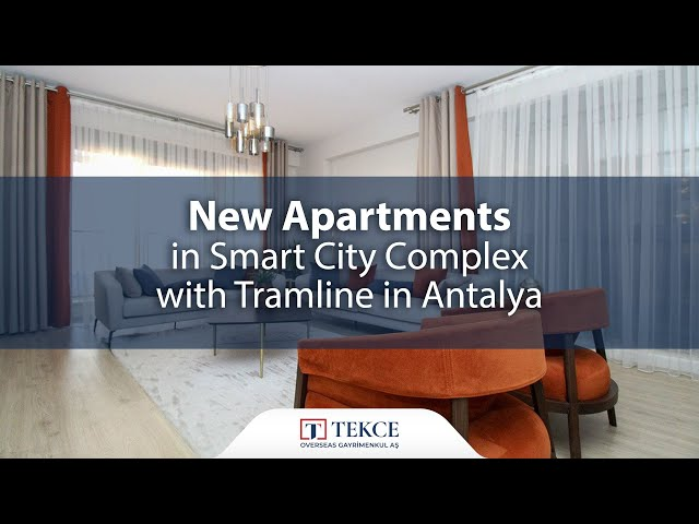 New Apartments in Smart City Complex with Tramline in Antalya