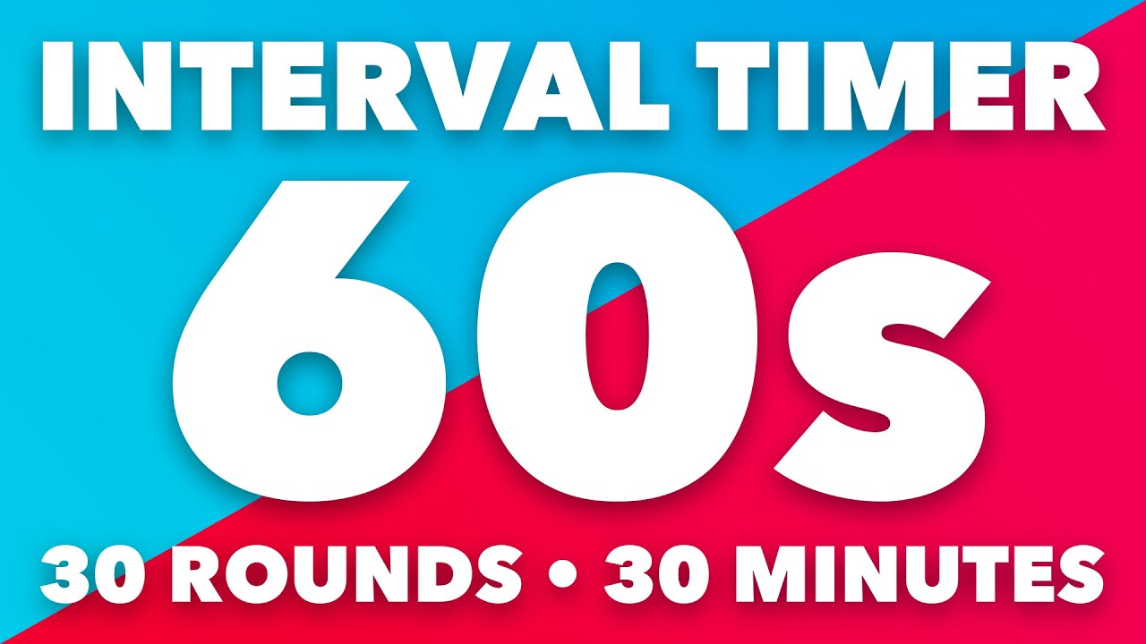 60 Second Interval Timer • 30 Minute Duration