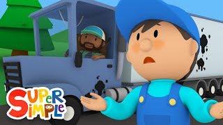 Bubba's Big Rig Needs A Good Scrub-A-Dub   Carl's Car Wash   Cartoons for Kids