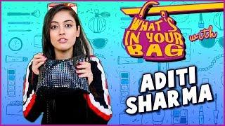Aditi Sharma Handbag Secret Revealed   What's In Your Bag   TellyMasala