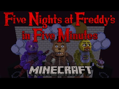 Five Nights At Freddy's In Five Minutes - A Minecraft Roller