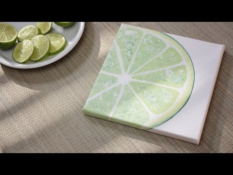 How To Paint a Lime – DIY 1/3 Fruit Painting Series