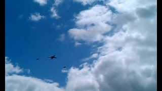 preview picture of video 'Queen's Birthday fly-past over Chesham - 2012 - Trooping The Colour'