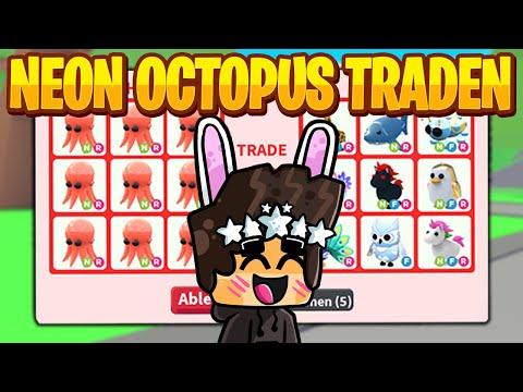 Was TRADEN Leute für ein NEON Octopus in Adopt Me?  Roblox\/Deutsch