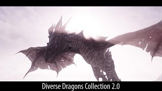 MORE EPIC DRAGONS! Skyrim Mods - Diverse Dragons Collection 2.0