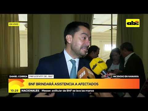 BNF brindará asistencia a afectados