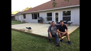 How To Build A Ground Level Deck (Father & Son Project)