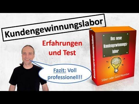 Kundengewinnungslabor Test und Erfahrungen - Kunden gewinnen im Internet und für Dienstleistungen