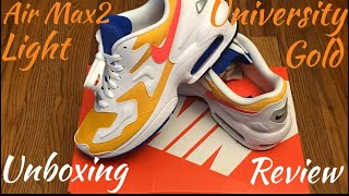 """half off 6e09b f759f Nike Air Max2 """"University Gold"""" Unboxing   Review....Good Buy"""