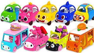 Baby Shark and Pinkfong~ Pick a cute Kitty minicar! | PinkyPopTOY