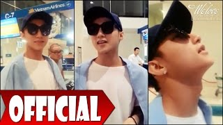 """Son Tung """"multi-level"""" cute astray at Tan Son Nhat airport [01/03/2016]"""