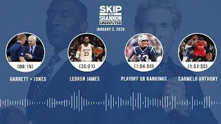 Garrett + Jones, LeBron James, Playoff QB rankings, Carmelo Anthony | UNDISPUTED Audio Podcast