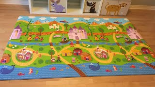 Best Non-Toxic Play Mats for Baby: DWINGULER Large Baby Playmat - Fairy Tail Land