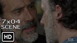 "The Walking Dead 7x04 ""Rick and Negan talk about Ammo"" Scene Season 7 Episode 4"