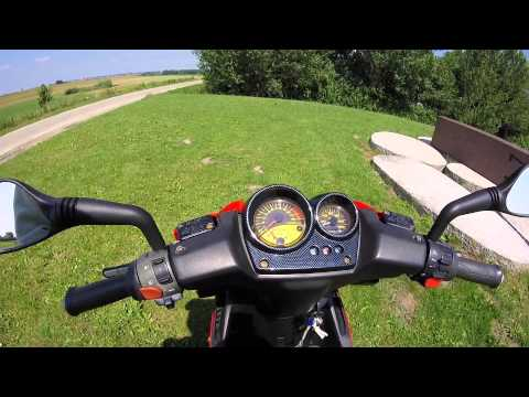 Yamaha Aerox Max Biaggi 1998 Rare Scooter Review + Sound + Ride!!