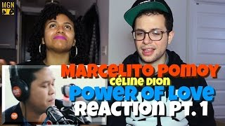 Marcelito Pomoy - Power Of Love (Celine Dion) Reaction Pt.1