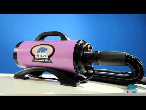 B-Air Variable Speed Professional Pet Dryer - Purple Video