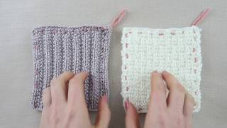 How to sew knitted squares together to make a blanket or throw
