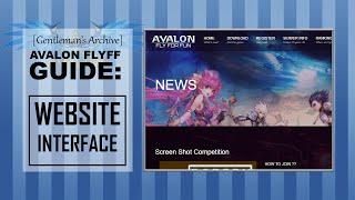 Avalon Flyff Guide:  Website Interface
