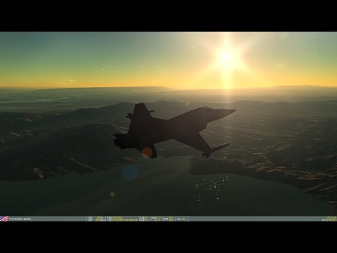 Puesta en marcha y despegue con Northrop F-5E Tiger II DCS - YouTube