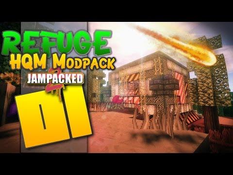 """Minecraft - """"REFUGE""""- FTB - HQM - """"The FUN HQM modpack!"""" - EP 01"""