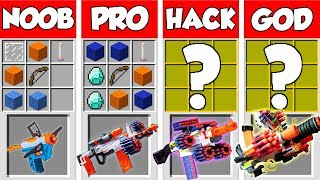 Minecraft NOOB vs PRO vs HACKER vs GOD: 10 Million$ Nerf Gun Battle in Minecraft / Animation