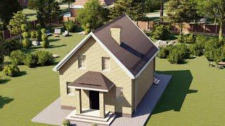 Проект дома 085-A, Площадь дома: 85 м2, Размер дома:  7x9 м