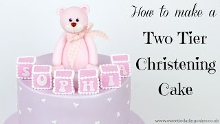 How To Make A Two Tier Christening Baby Shower Cake