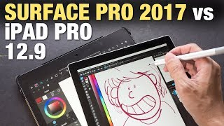 iPad Pro 12.9 vs Surface Pro 2017 (Artist Comparison)