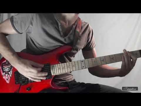 Рок гитара. Рифф в стиле тяжелый рок