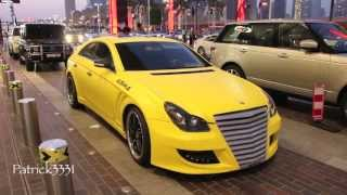 ASMA CLS55 AMG Mercedes Benz in bright yellow