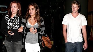 Their First Date! Miley Cyrus And Liam Hemsworth Catch A Movie At City Walk [2009]