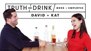 My Boss & I Play Truth or Drink (David & Kat)   Truth or Drink   Cut
