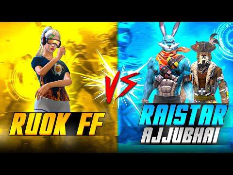 Ajjubhai & Raistar Vs Rouk FF    CLASH SQUAD 1 VS 2  ❤️🤯 - GARENA FREEFIRE