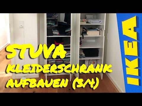 STUVA Kleiderschrank Aufbau - Drahtkorb, Einlegeboden, Kleiderstange (3/4)