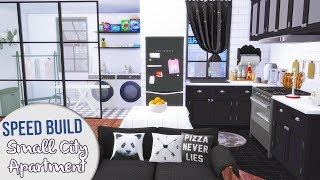 The Sims 4 Speed Build | SMALL CITY APARTMENT + CC Links