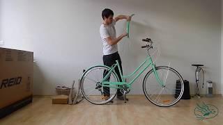 Endmontage eines Fahrrades von Reid bikes