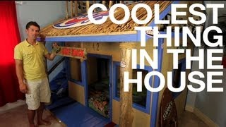 Kids Room: DIY Bunk Bed Surf Shack  - COOLEST THING IN THE HOUSE (EP19)