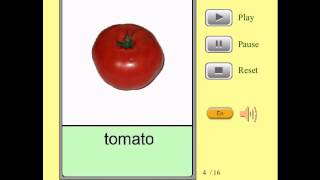 Audio Flashcards for Kids - Foods - Vegetables