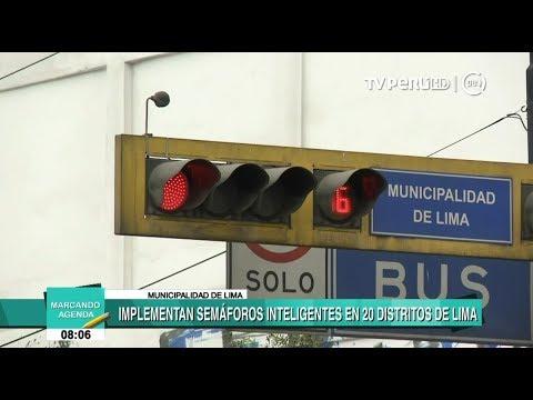 Instalan semáforos inteligentes en 20 distritos de Lima