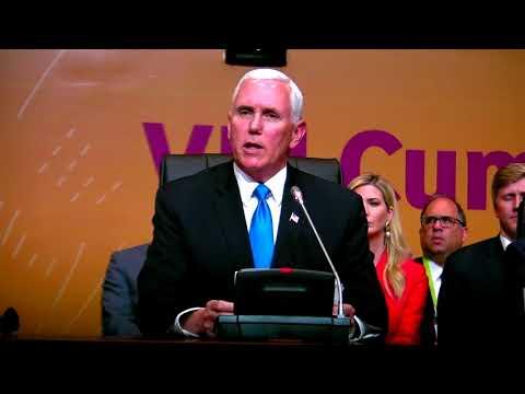 Mike Pence habló sobre Siria y Venezuela en la Cumbre de las Américas