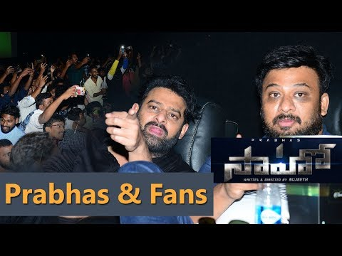 Prabhas Watching Saaho At AMB Cinemas With Fans