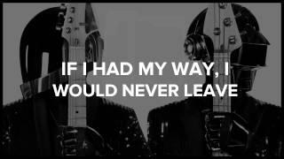 Daft Punk - Fragments of Time [Video Lyrics]